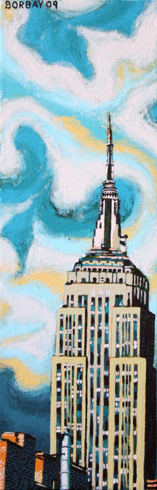 Painting Process | Empire State Building Broken Leg ...