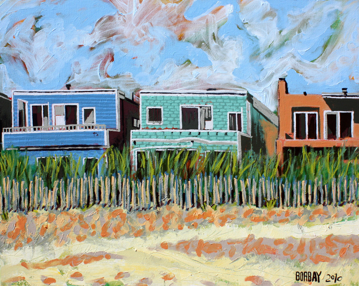 Long Beach Bungalow Painting By Borbay