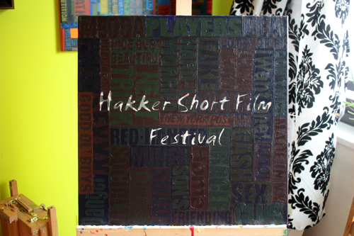 Hakker Short Film Festival Painting Process Borbay