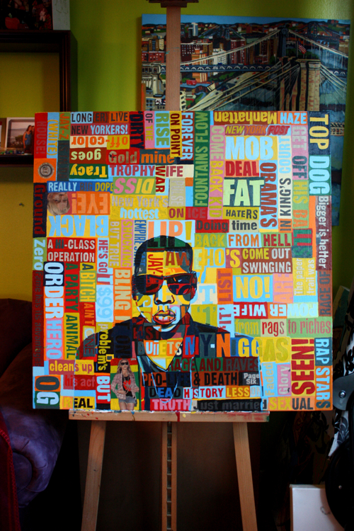 Jay-Z Painting by Borbay