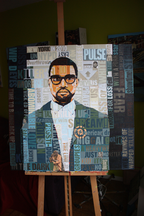 Kanye West Painting Process by Borbay
