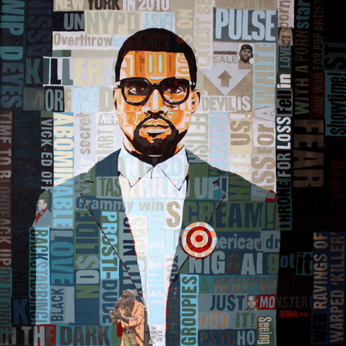 Kanye West Painting by Borbay