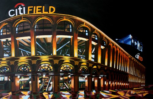 Citi Field Painting by Borbay