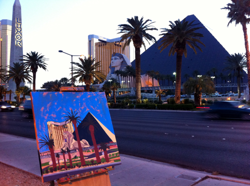 Luxor Las Vegas Painting Process by Borbay