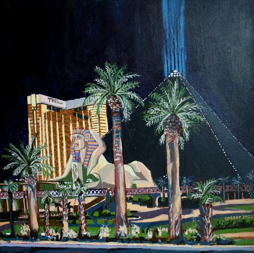 Luxor Las Vegas Painting by Borbay