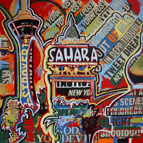 Sahara Las Vegas Painting by Borbay
