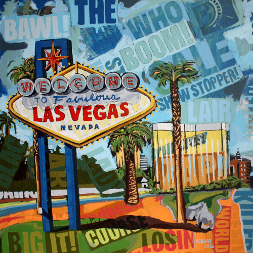 Welcome To Las Vegas Sign Painting by Borbay