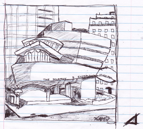 Guggenheim Student Drawing at Iona College