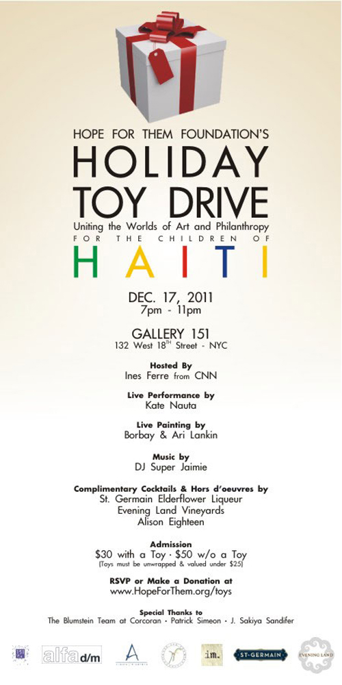 Holiday Toy Drive for Haiti