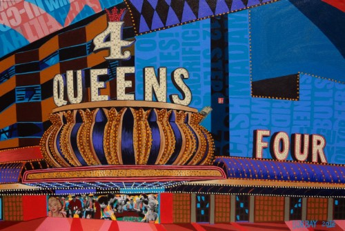 4 Four Queens Las Vegas Painting by Borbay