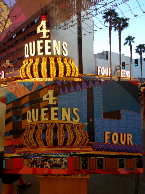 4 Four Queens Las Vegas Painting Process by Borbay
