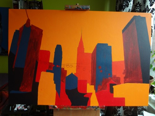 Chrysler Building Painting Process by Borbay