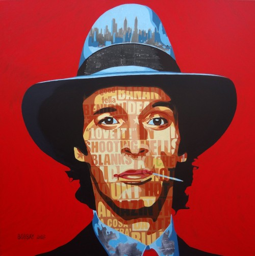 Painting of Johnny Stecchino by Borbay