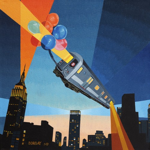 The Balloon Guide Album Cover Painted by Borbay