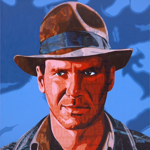 Harrison Ford as Indiana Jones by Borbay