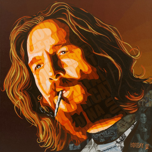 Jeff Bridges as The Dude Painting by Borbay