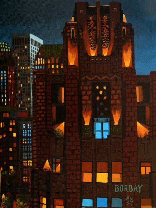 Title Guarantee Building Painting by Borbay