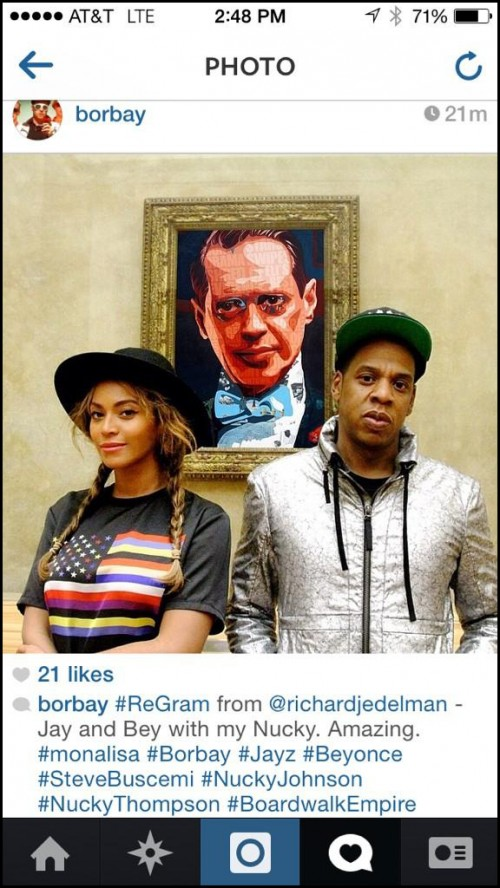 JayZ Beyonce Borbay Photoshop in Louvre
