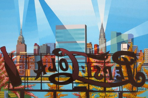 Long Island City Pepsi Sign Painting by Borbay
