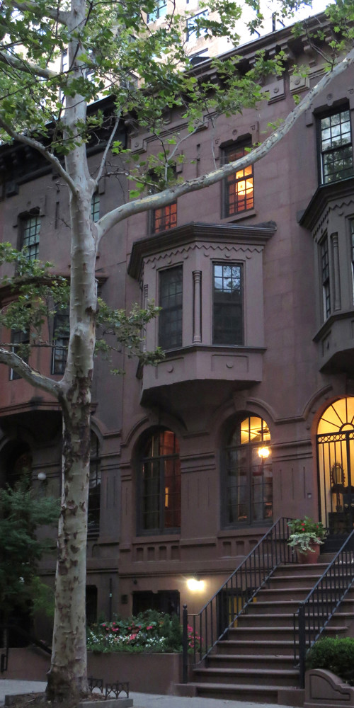 Upper East Side Townhouse Portrait at Twilight Source Image by Borbay