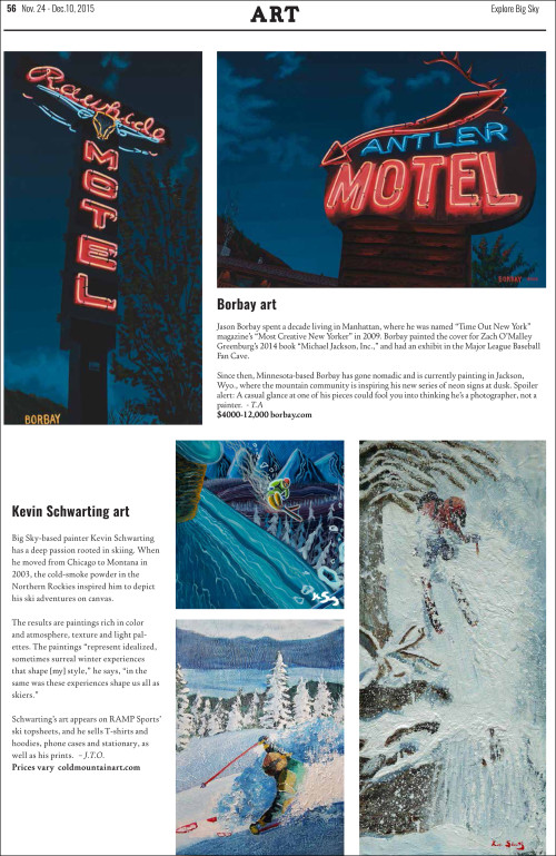 Explore Big Sky Holiday Guide Borbay Art Page 56