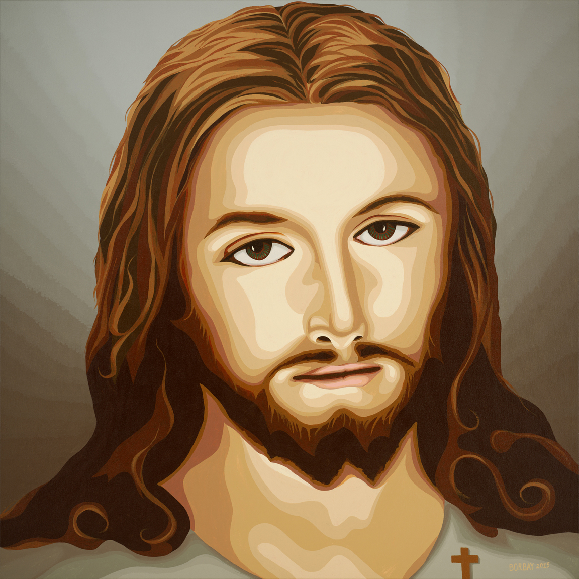 a commissioned painting of jesus u2013 borbay