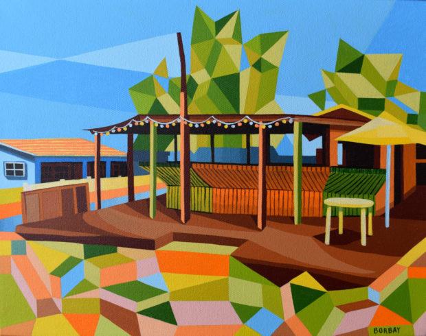 Santanas Exuma Painting by Borbay