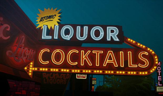 Atomic Liquors Painting by Borbay