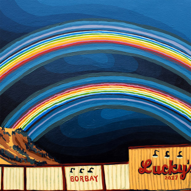 Bows Over Luckys Painting by Borbay