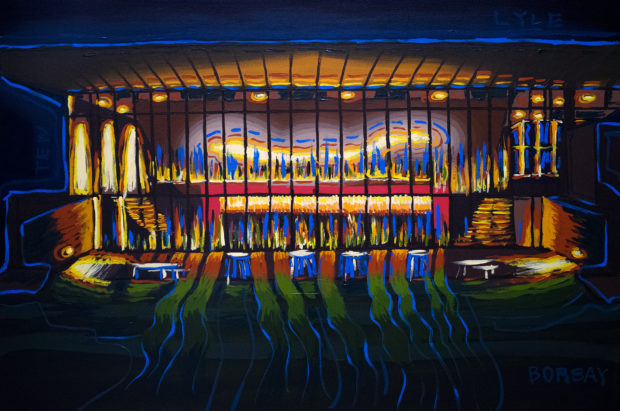 Center For The Arts at Night Painting by Borbay