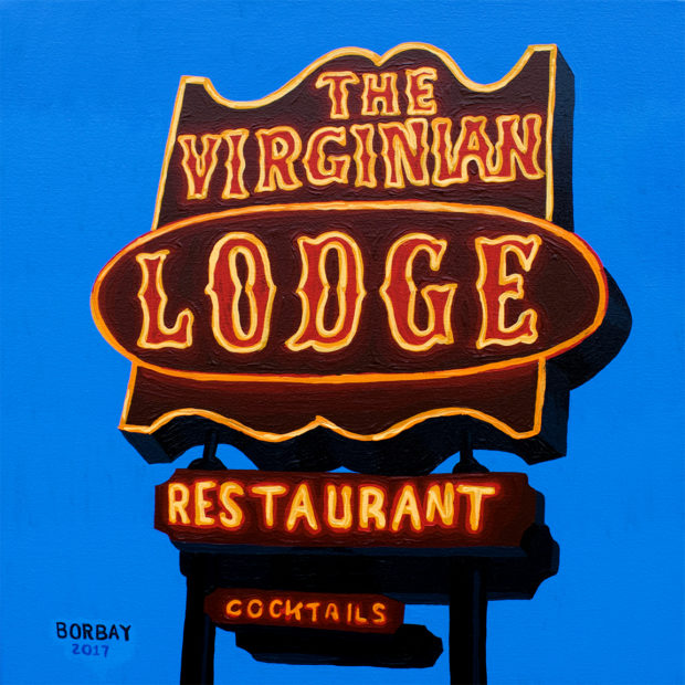 The Virginian Lodge Sign Painting by Borbay