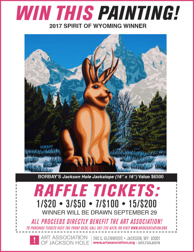 Win A Jackalope Painting by Borbay