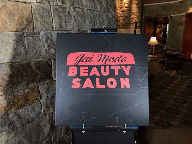 Gai mode beauty salon neon sign painted live at four for 4 seasons beauty salon