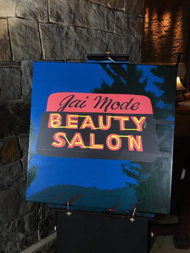 Gai mode beauty salon neon sign painted live at four for 4 seasons beauty salon