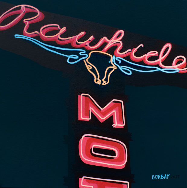 Rawhide Jackson Hole Painting by Borbay