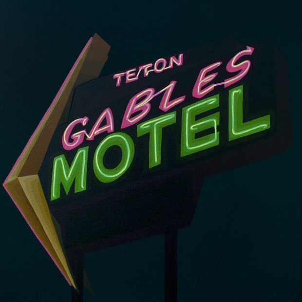 Teton Gables Motel Painting by Borbay