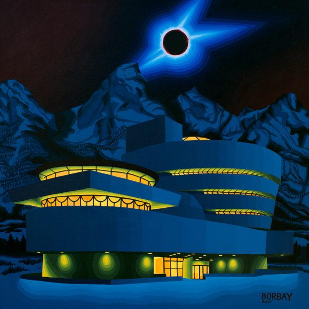 Guggenheim Painting Eclipse Painting Jackson Hole Painting Borbay