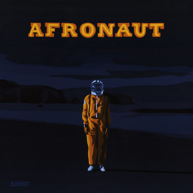 AFRONAUT MH the Verb Album Cover Painting by Borbay